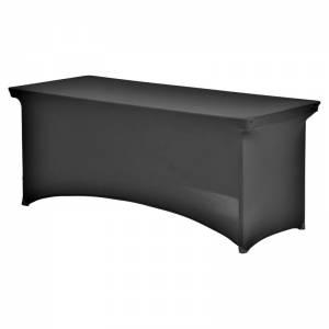 Tafelrok (stretch) zwart 182x76 cm huren Barendrecht en Rotterdam