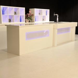 Luxe Led bar wit met aansluiten huren Barendrecht en Rotterdam