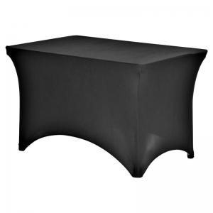 Tafelrok (stretch) zwart 120x80 cm huren Barendrecht en Rotterdam