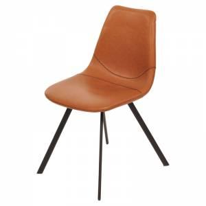 Luxe stoel zwart/ cognac bruin huren Barendrecht en Rotterdam