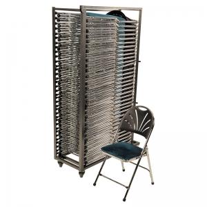 Kar met 32x luxe klapstoel zwart en blauw huren Barendrecht en Rotterdam