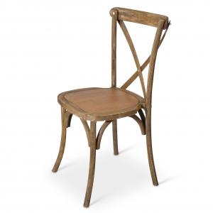Cross back stoel hout huren Barendrecht en Rotterdam