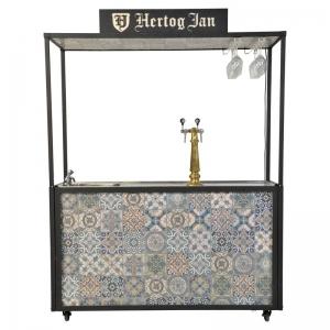 Vintage bar voor 20L fusten met spoelbak en verlichting huren Barendrecht en Rotterdam