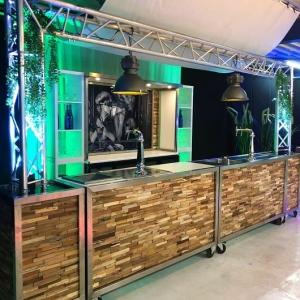 Complete luxe bar met tap, koeling en styling huren Barendrecht en Rotterdam