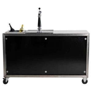 Luxe mobiele bar zwart en koeling. Zonder spoelbak huren Barendrecht en Rotterdam