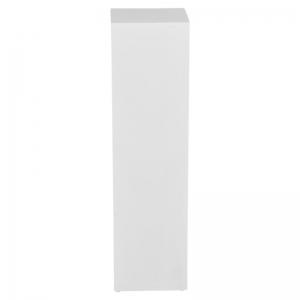 Decoratiezuil hout wit 110cm hoog huren Barendrecht en Rotterdam