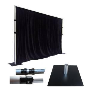 Pipe & drape zwart 2m hoog, per strekkende meter huren Barendrecht en Rotterdam
